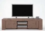Medinis TV staliukas su trimis skyriais