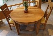 Ąžuolinis apvalus stalas