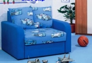 "Minkšta vaikiškas lova-fotelis ""Blue Clip"""