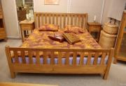 Ąžuolinė dvigulė lova